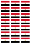 Egypt Flag Stickers - 21 per sheet